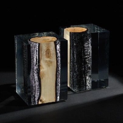 Blue Nature Design Burnt Wood And Epoxy Resin Side Table Resin Tables Pinterest Burnt