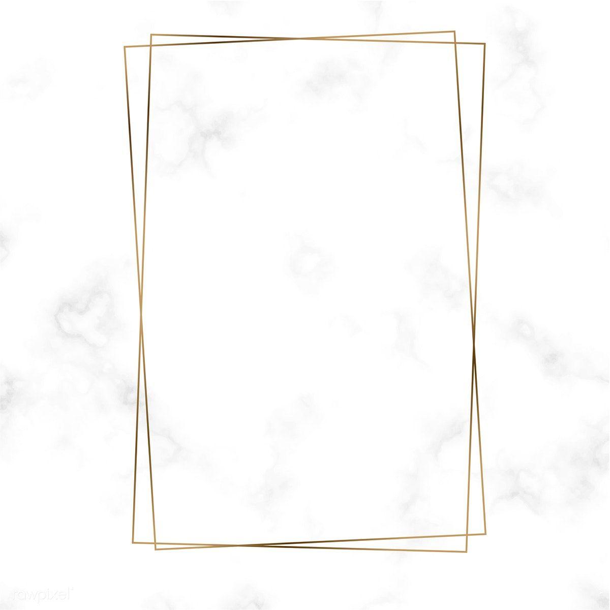 Download Premium Vector Of Golden Rectangle Frame Template Vector 494508 Frame Template Framed Wallpaper Polaroid Frame