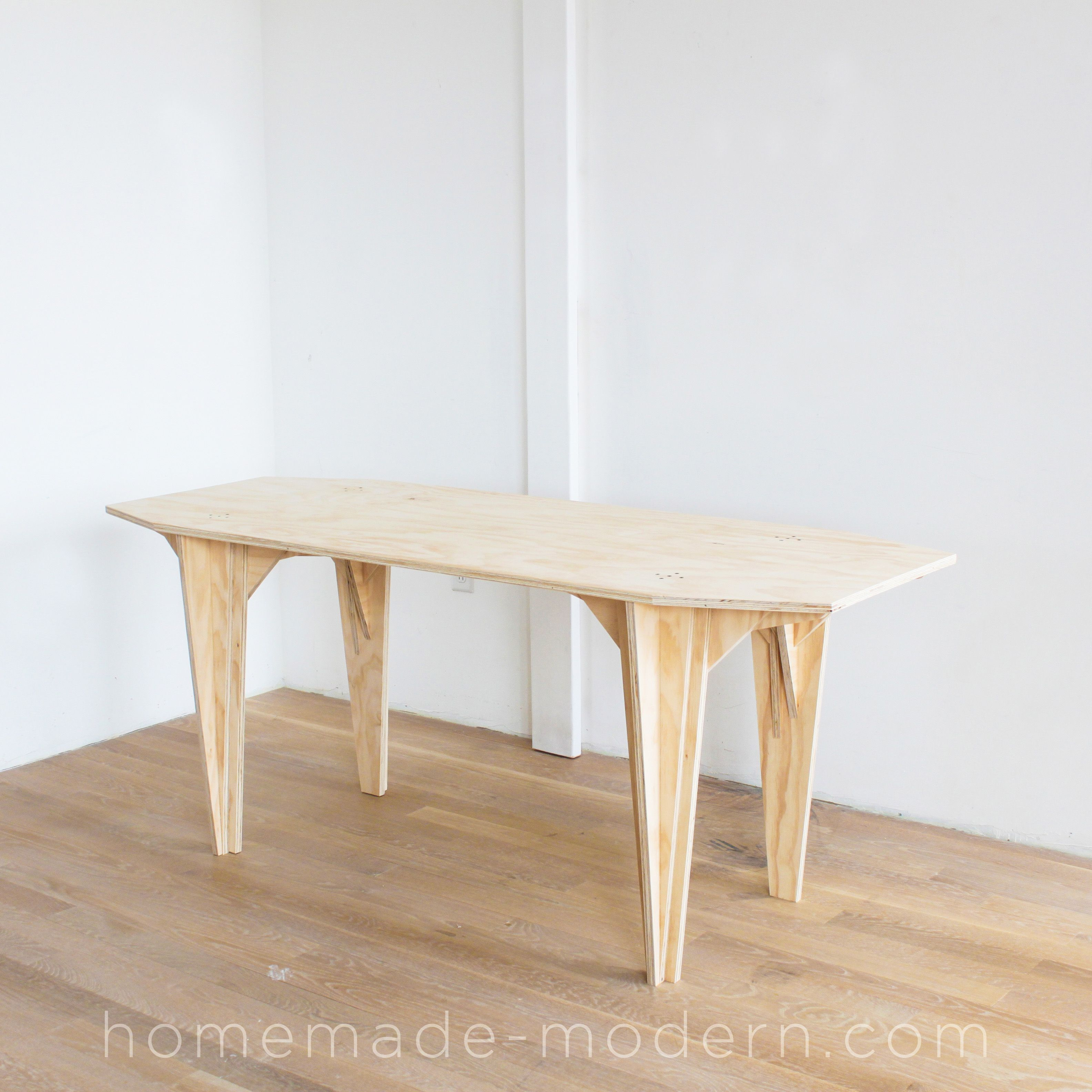 This Diy Plywood Table Is Made Out Plywood From Home Depot And Does Not Require A Cnc Machine To Make Full Instruction Plywood Table Homemade Modern Table [ 3168 x 3168 Pixel ]