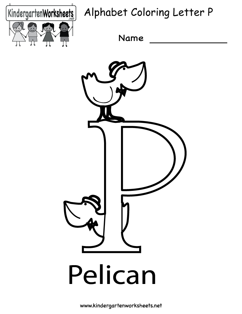 Kindergarten Letter P Coloring Worksheet Printable | Letter P ...