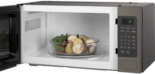 Ge 1 1 Cu Ft Mid Size Microwave Slate Pem31efes Countertop