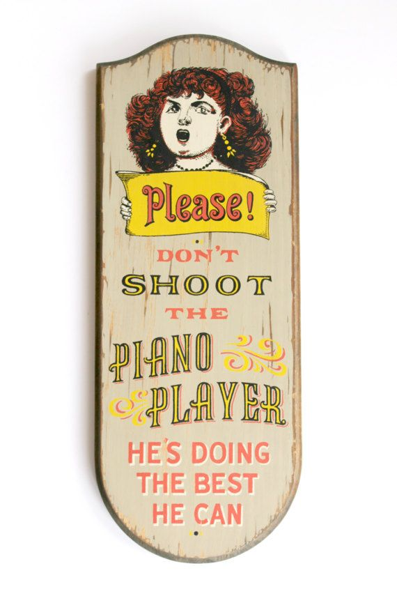 Vintage 1960 S Don T Shoot The Piano Player By Moonstruckvintageaz Vintage Typography Vintage Screen Printing