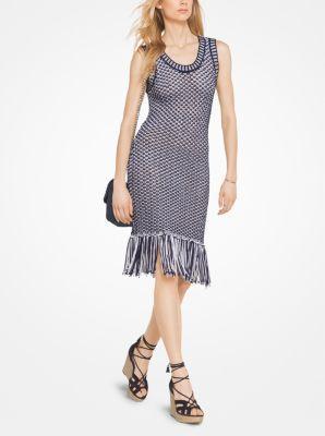 aa8f4b3da3e MICHAEL MICHAEL KORS Fringed Cotton-Blend Knit Dress.  michaelmichaelkors   cloth