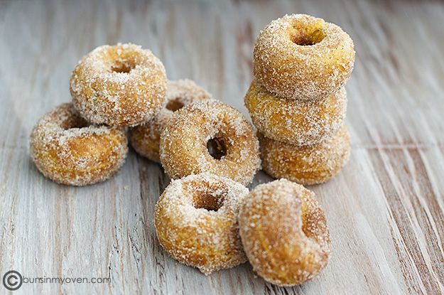 pumpkn doughnut recipe - made using better batter and coconut oil.  Very yummy...rose more than expected and I overfilled the donut maker.  Next time I will need to put less in each donut.  Made wonderful donuts in the donut pan and donut holes in the mini muffin tin.