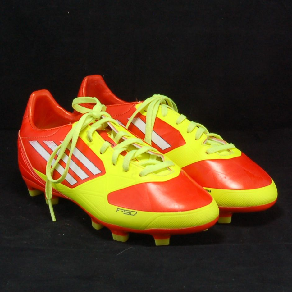 7d7ea6301 Men s ADIDAS F-50 Adizero TRX FG Cleats Soccer Boots Red Yellow Size 4 US   Adidas