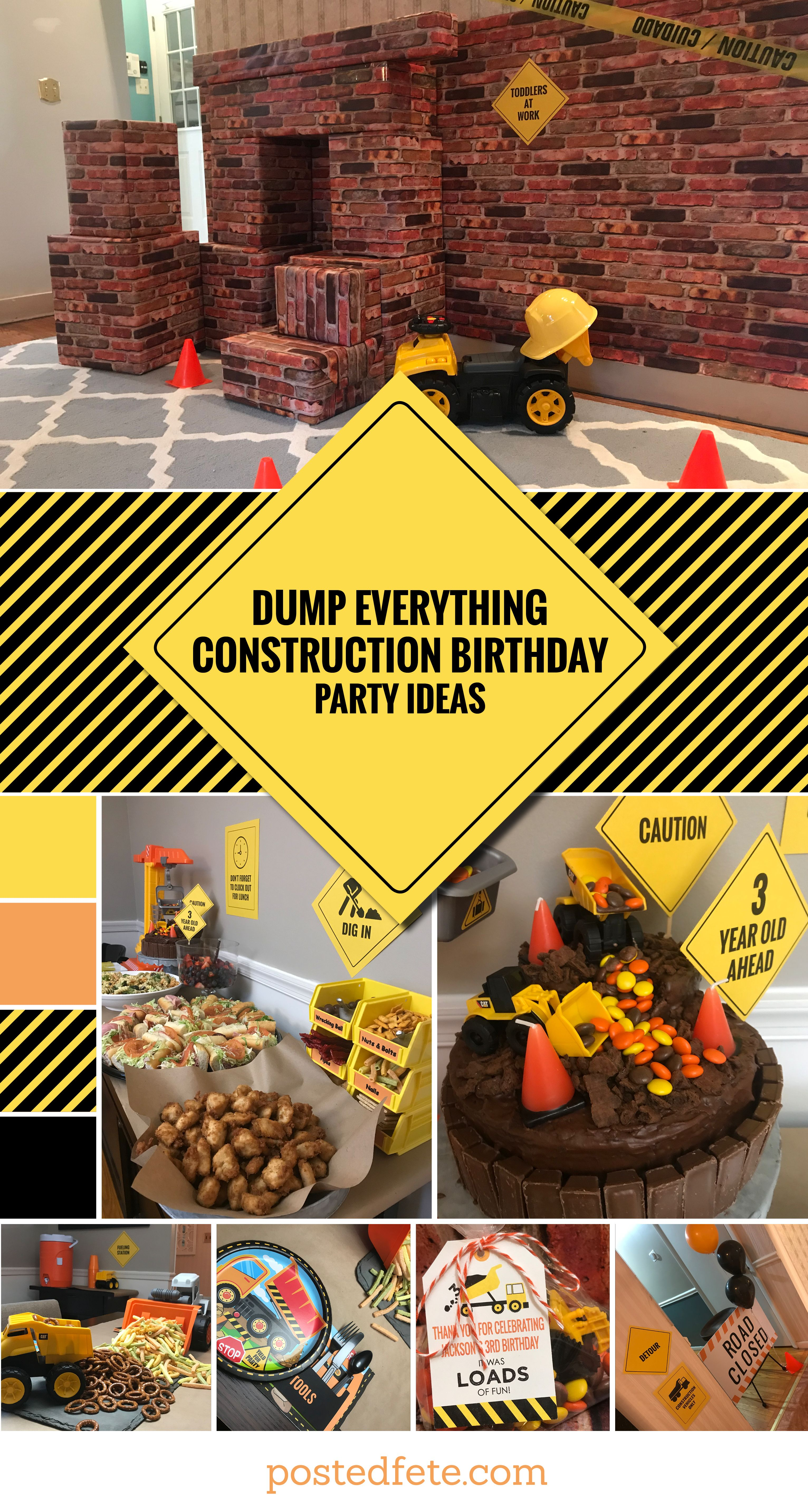 Dump Everything It S Jack S 3rd Birthday Posted Fete Construction Birthday Parties Construction Birthday Diy Birthday Party