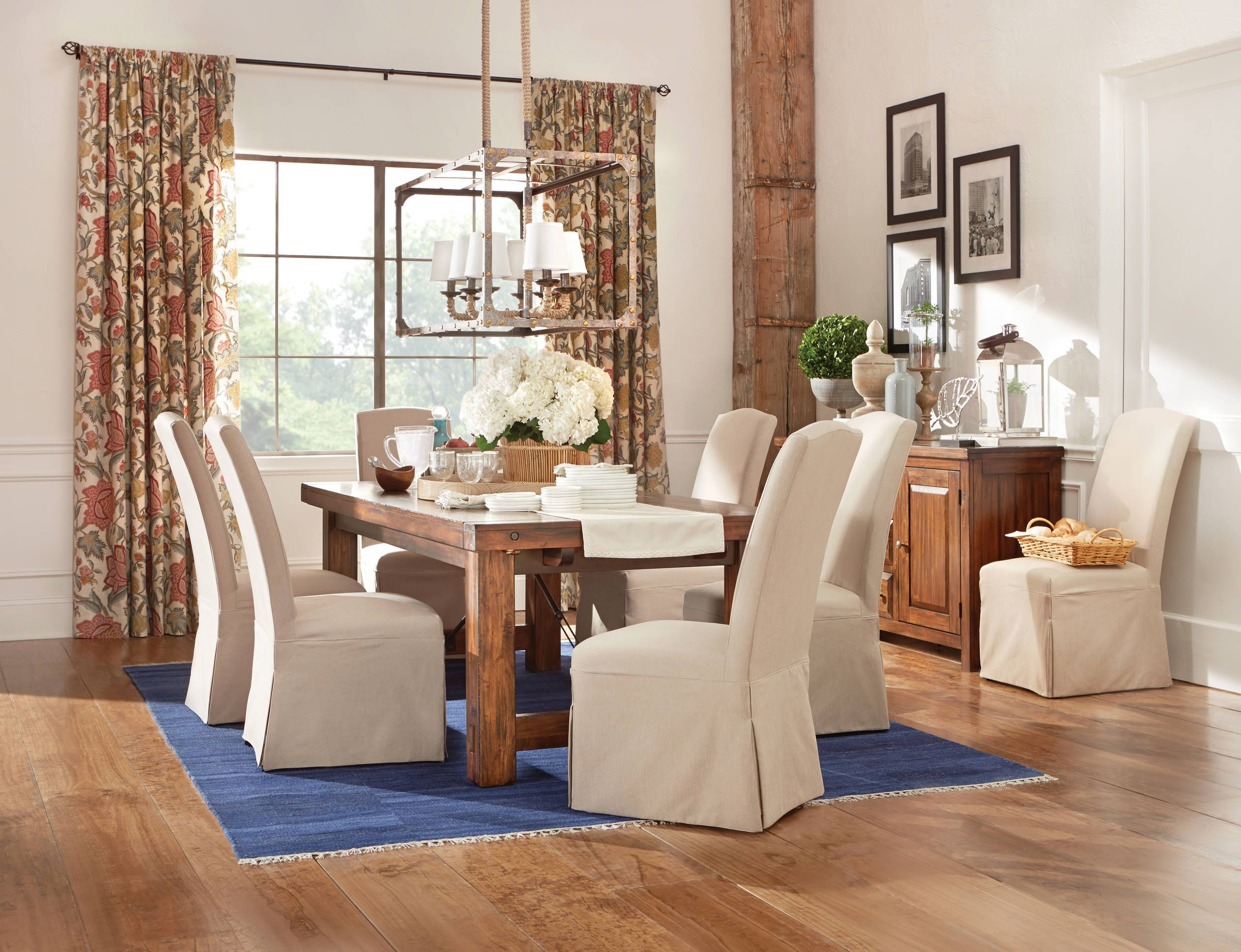 Modern rustic dining room table  The urban Tuscany Dining Collection features the best of rustic and