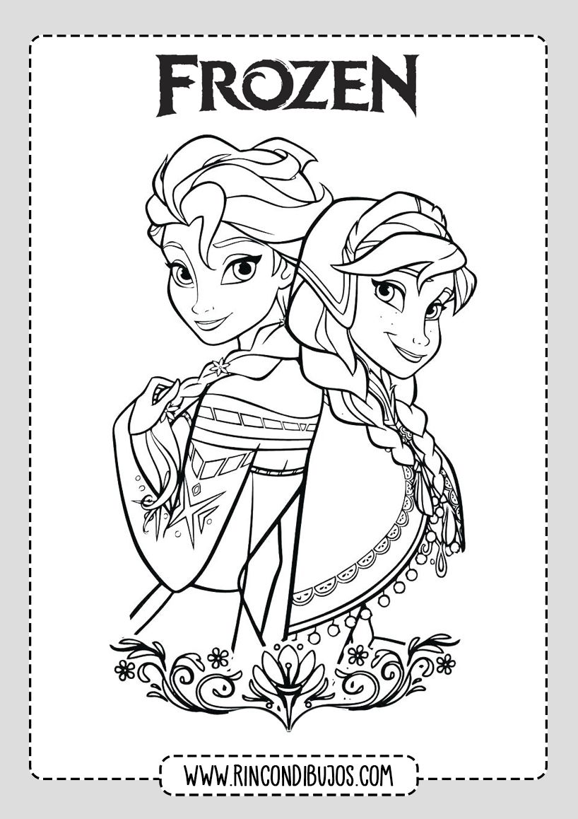 Dibujos De Frozen 2 Para Colorear Imprimir Rincon Dibujos En 2020 Dibujos De Frozen Frozen Para Colorear Tarjetas Disney