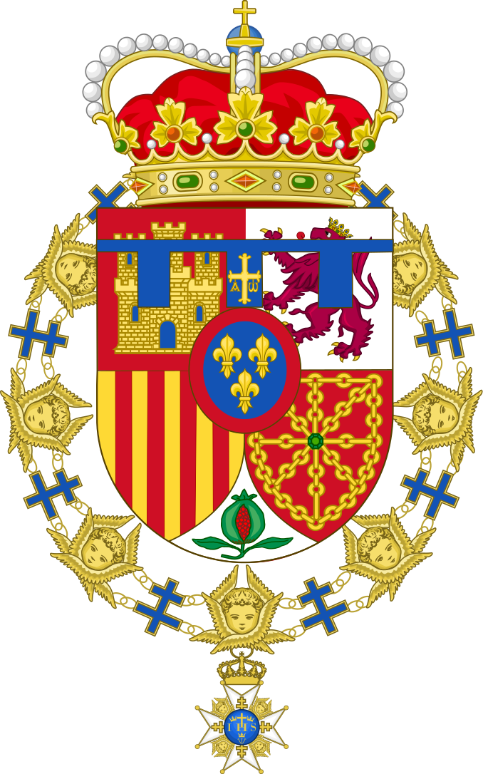 Coat Of Arms Of Felipe Of Spain Order Of The Seraphim Svg Coat Of Arms Arms Seraphim