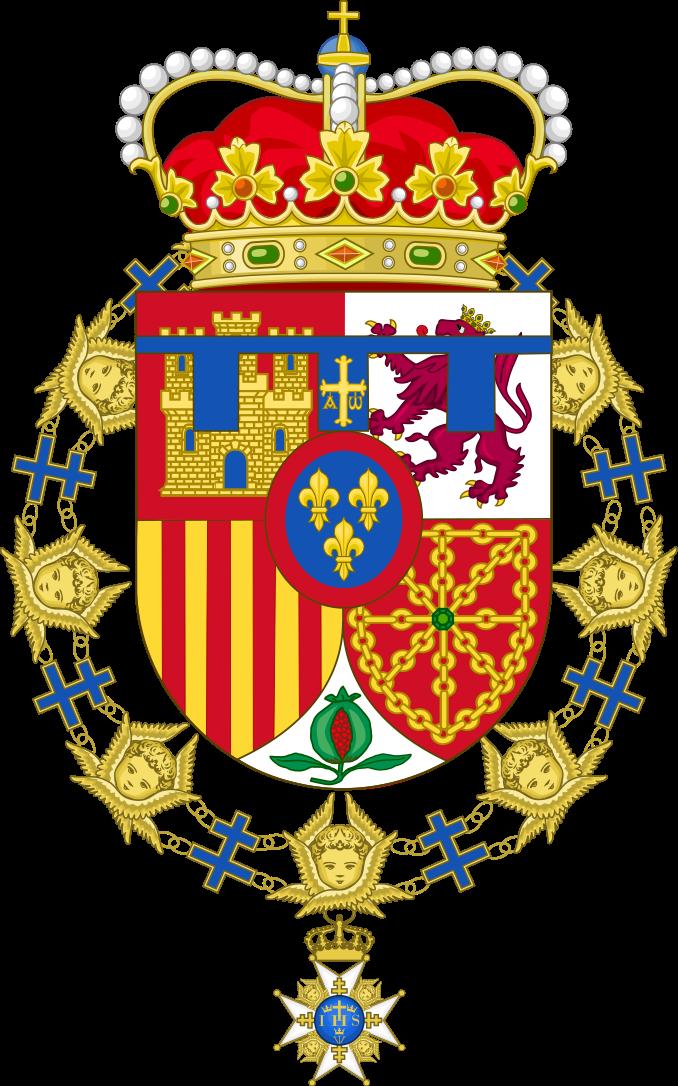 Coat Of Arms Of Felipe Of Spain Order Of The Seraphim Svg Coat Of Arms Arms Seraphim