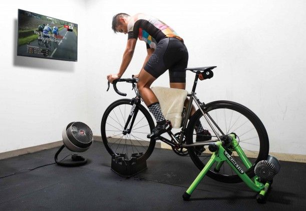 Riding A Biketrainer Indoors Is A Little Different Than Riding