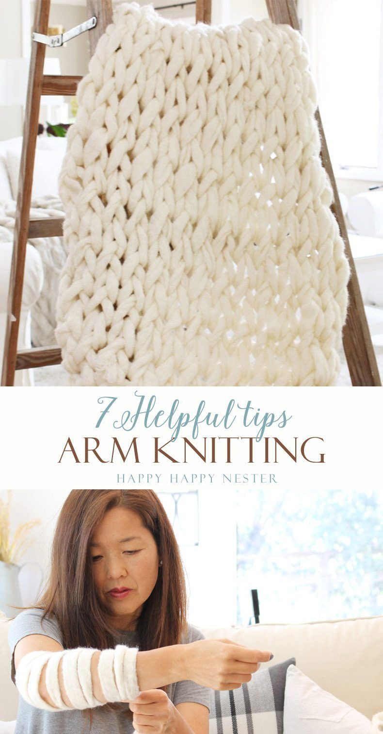 Arm Knitting: No Knitting Experience Required | blankets knit ...