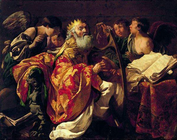 Museum Nardowe, Warsawa, Poland / Henrick Terbrugghen (1587-1629) / King David with harp / 1688
