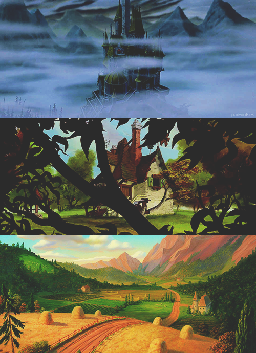 Beauty and the Beast scenery