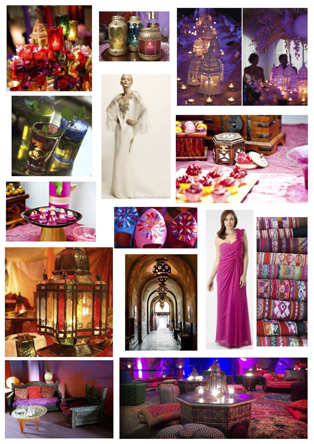 Moroccan Hot Pink Wedding Theme