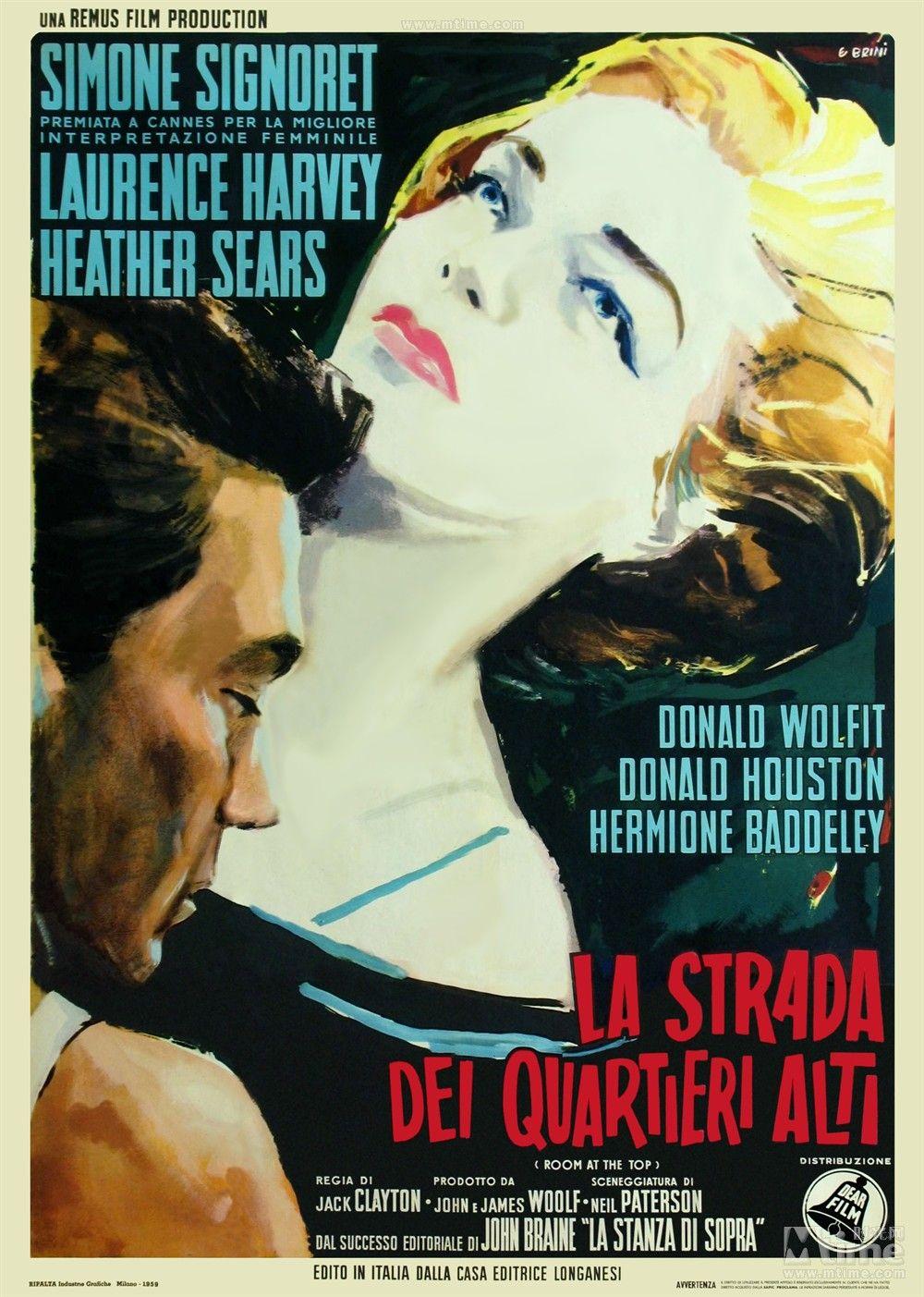 An Italian Poster For Jack Clayton S 1959 Drama Room At The Top Source Listal Com Carteles De Cine Carteles De Peliculas Cartel