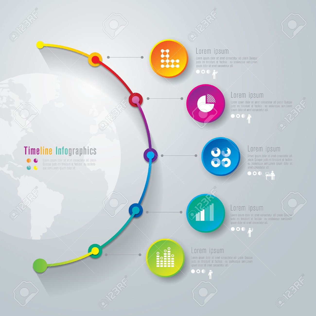 Timeline Infographics Design Template Royalty Free Cliparts