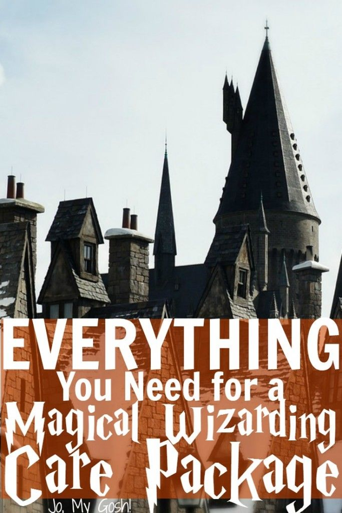 Harry Potter themed care package ideas, recipes, and DIYs-- awesome resources for military, college, or missionary care packages!