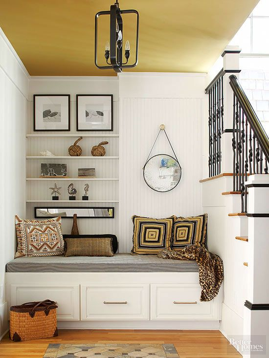 Fresh Ideas For Foyers And Entries Corner Seating Corner Bench Seating Home