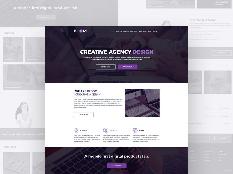 P Download Creative Agency Full Web Templates Free Psd This Is A Lovely Multipage Website Template Suited For Free Web Template Creative Agency Web Template