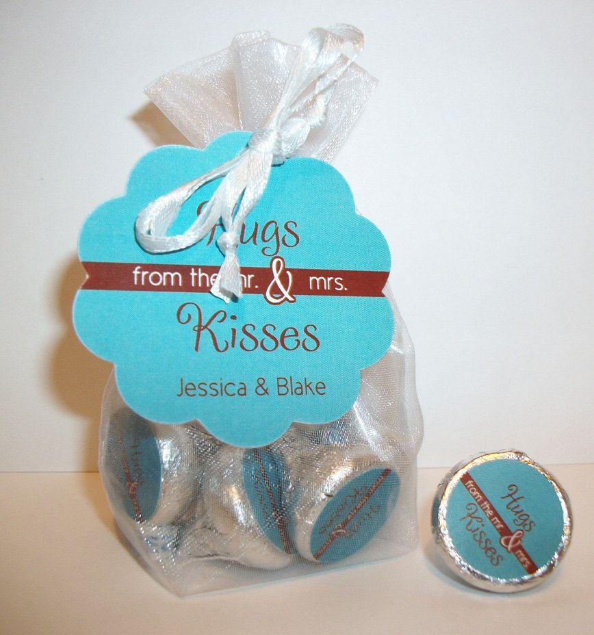 Wedding Favor Kit For Hershey S Kisses 61hugs By Digitaldoodlebug 12 00