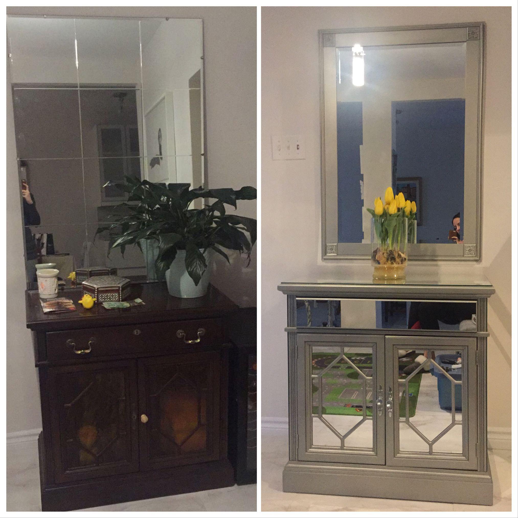DIY mirrored furniture | Mirrored furniture
