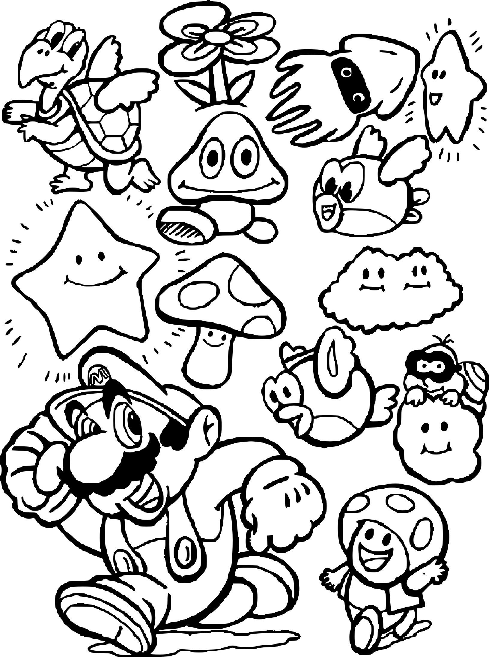 Daisy's coloring page in Mario   Coloriage mario, Coloriage ...