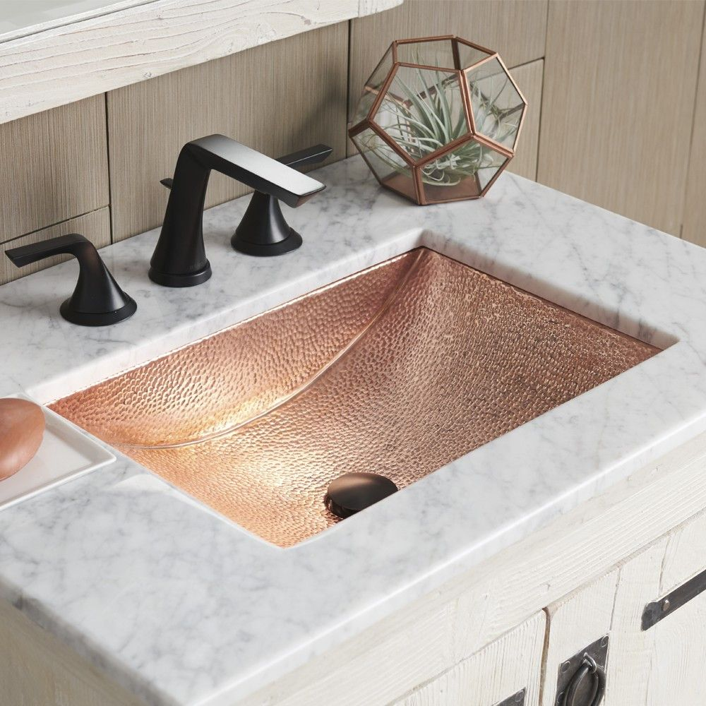 Avila Hand Hammered Copper Undermount Sink For The Bathroom Now In Polished