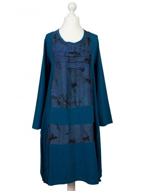 Damen Tunika Kleid Mit Satin Petrol Von Manga Bei Www Meinkleidchen