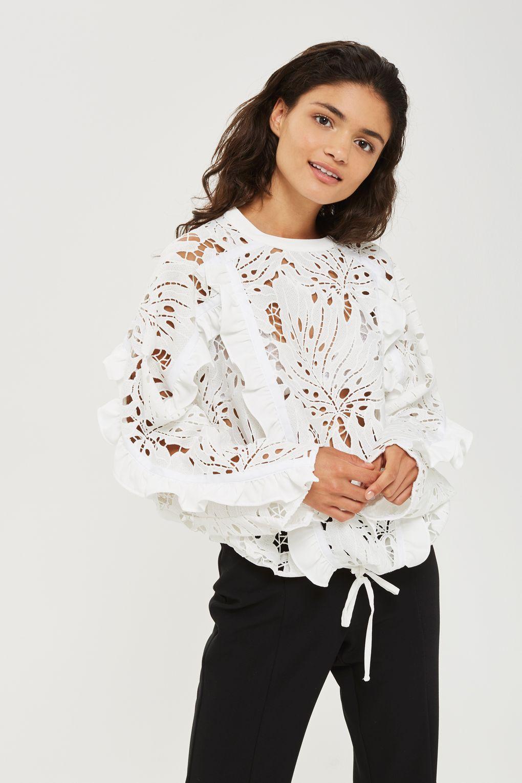 ee88ebb25f1c Lace Cutwork Sweatshirt