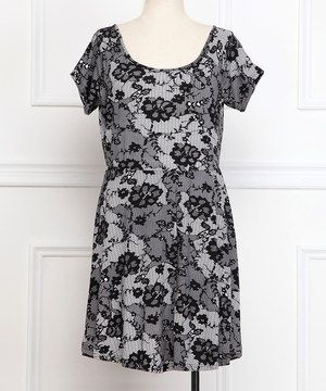 This Gray & Black Floral Skater Dress - Plus by Reborn Collection is perfect! #zulilyfinds
