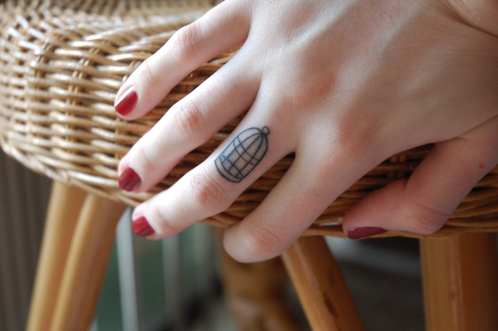 Birdcage Finger Tattoo Cage Tattoos Finger Tattoos Cute Finger Tattoos