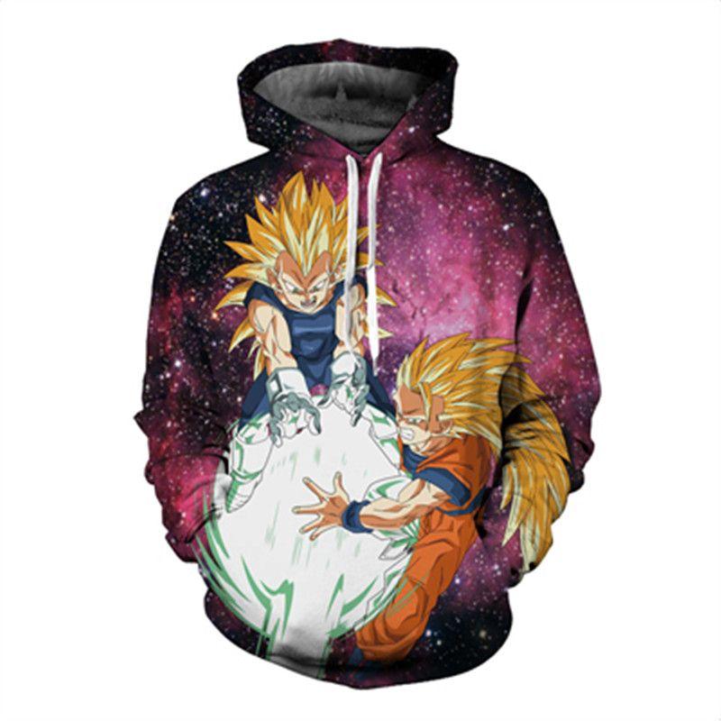 Women Men 3D Hoodie Cartoon Dragon Ball Z Evil Buu Print Fashion Sweatshirt