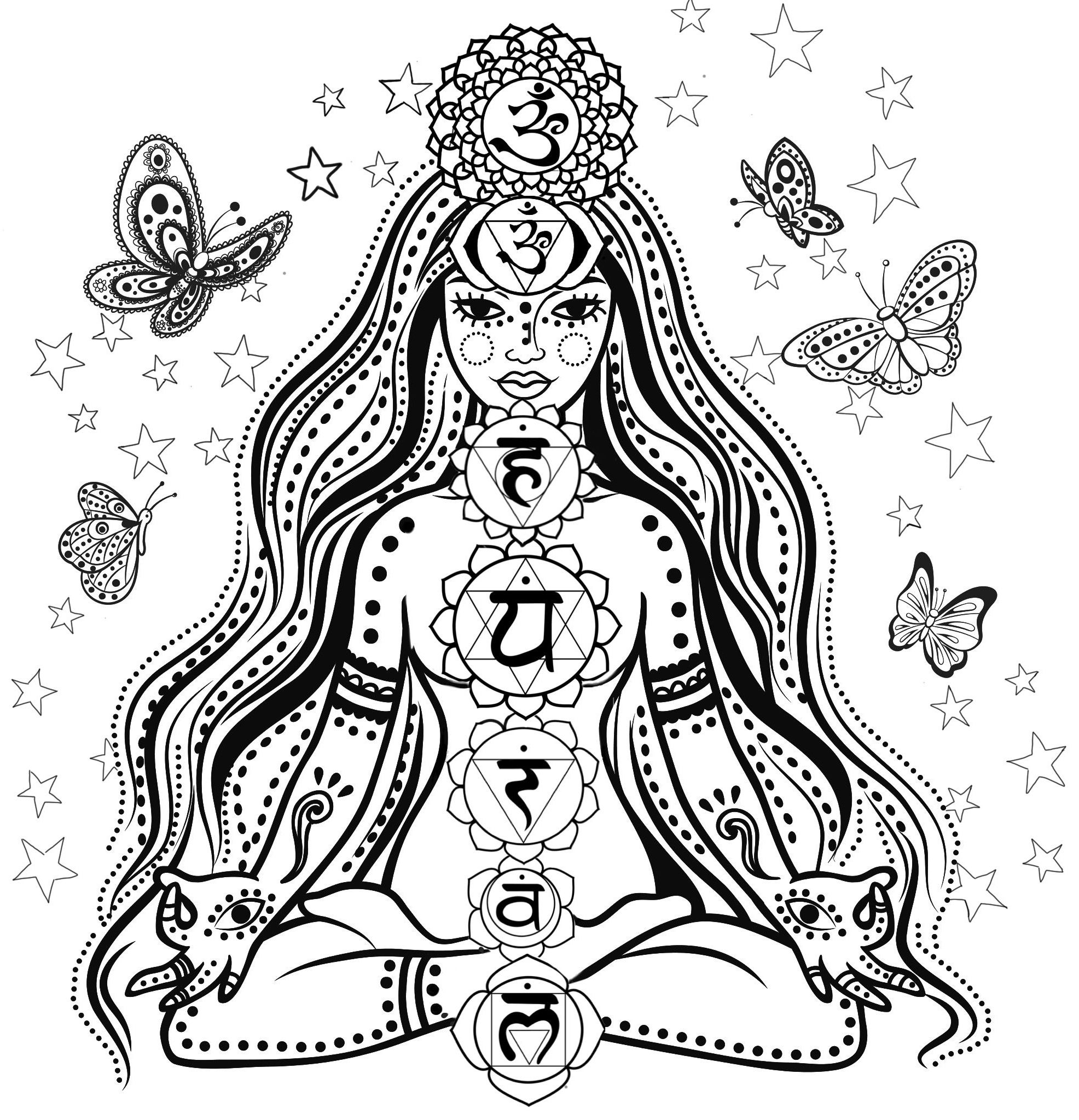 chakra mandala printable coloring pages - photo#1