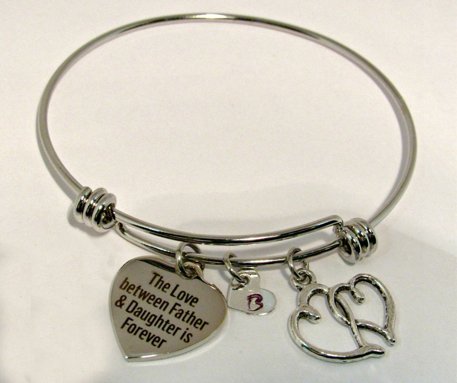 bracelets bracelet heartbeat jewelry keepsakes bangles stainless charm heart steel bangle