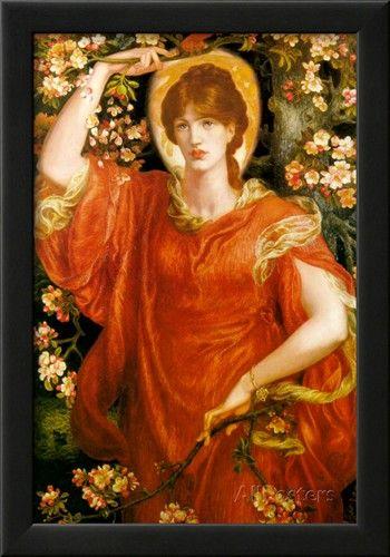 A vision of fiametta prints by dante gabriel rossetti nel for Rossetti vernici e idee