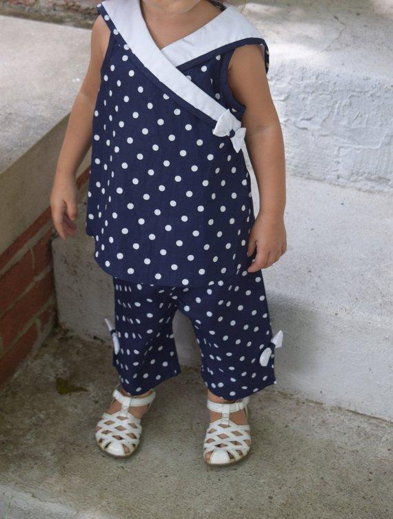 adbfb2e23 24 Month Girls Good Lad Sailor Nautical 2 Piece Outfit Set Navy ...