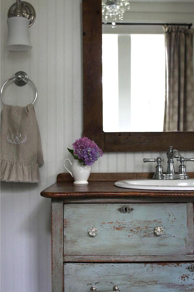 Vanity Repurposed Old Dresser Turned