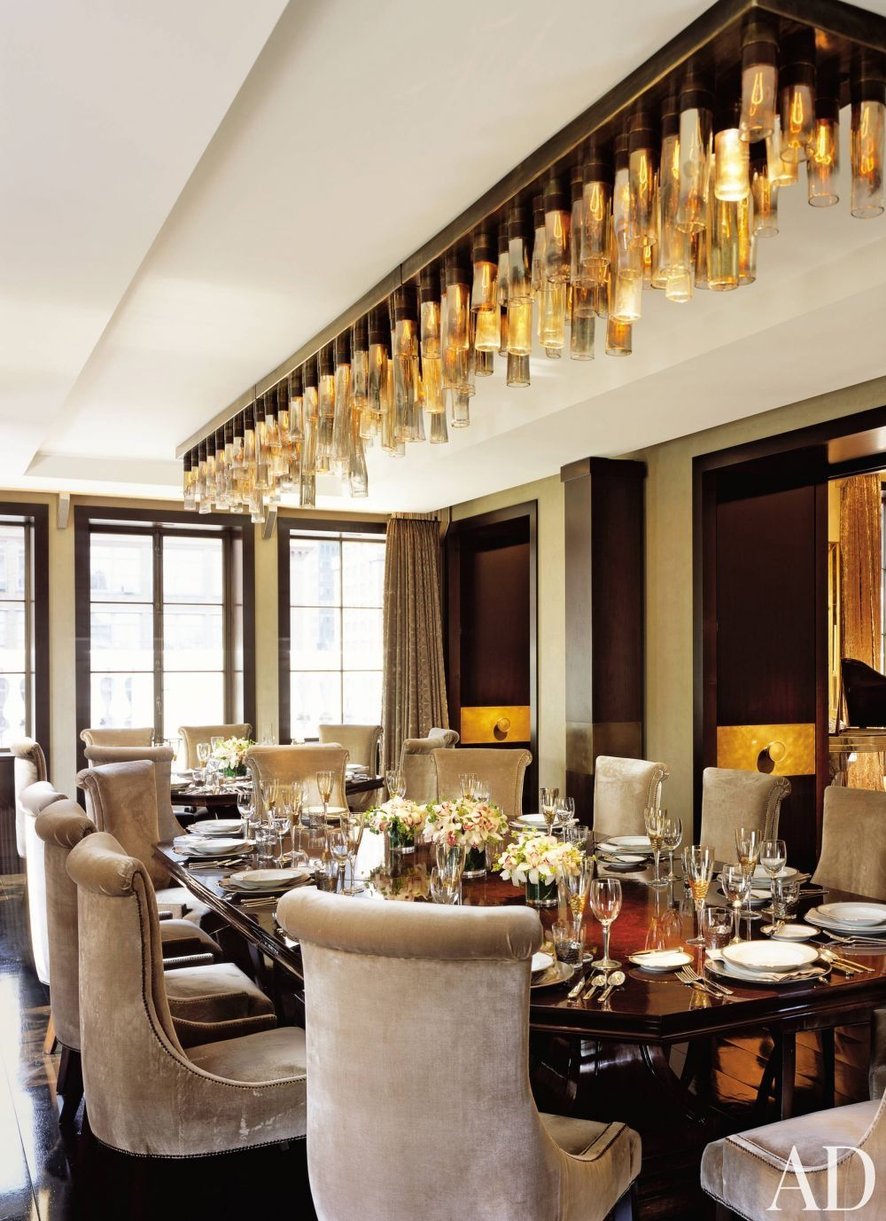 Traditional Dining Roomcharles Allem In New York New York Gorgeous Dining Room Light Fixtures Traditional Design Ideas