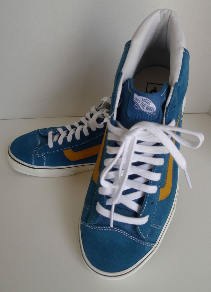 9daa781a5e Vans Off The Wall Mid Skool 77 SK8 Shoes Moroccan Blue Suede Men s Size 11  NWOT