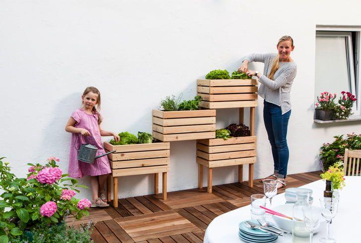 Wenig Platzbedarf, viel Ertrag: Dieses Hochbeet passt auch auf deinen Balkon!
