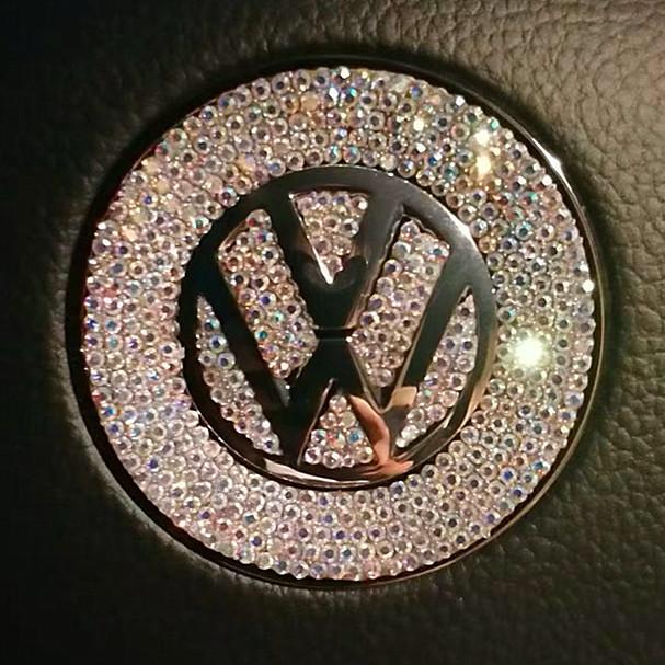 Bling VW Volkswagen Emblem for Steering Wheel LOGO Sticker