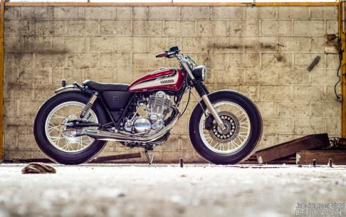 Yamaha SR 400 Brat Style by Garage9 #motorcycles #bratstyle #motos | caferacerpasion.com