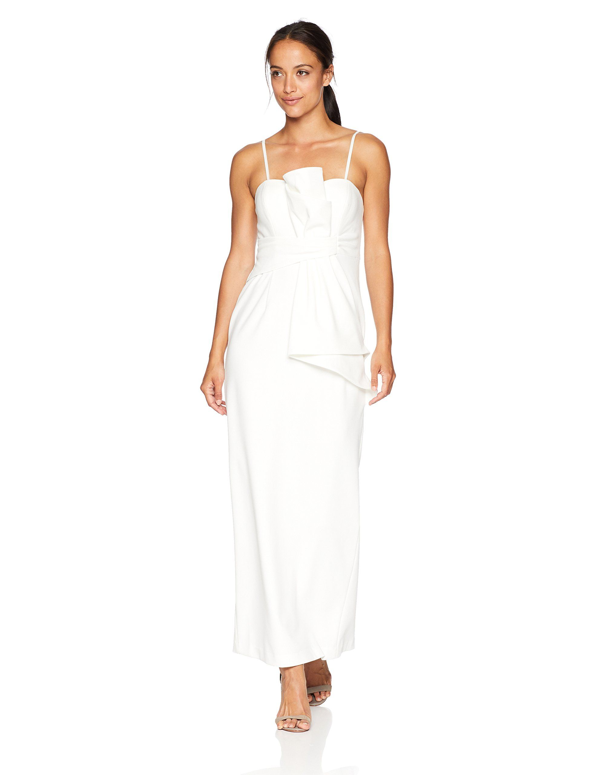 04b5daf070a Adrianna Papell Womens Petite Strapless Bow Detail Front Knit Crepe Column  Gown Ivory 6P   Check out this great product-affiliate link.  dresses