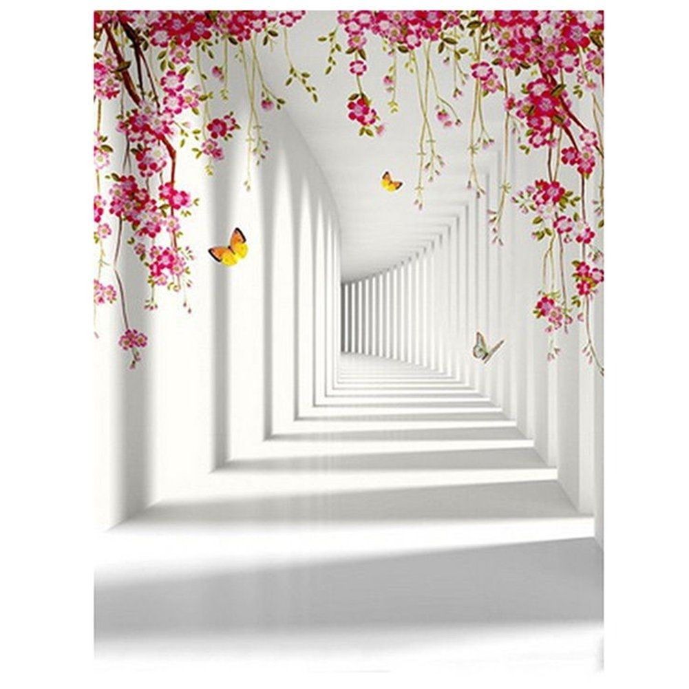 Butterfly Painting Wall Photography Backdrops Photo Props Studio Background 5x7ft