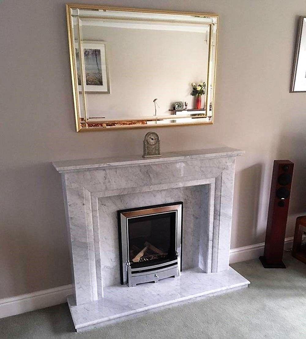 Carrara Marble Fireplace And Gas Fire Marblefireplace Carraramarble Gasfire Modernfireplace Homedesign Hom With Images Marble Fireplaces Modern Fireplace Fireplace