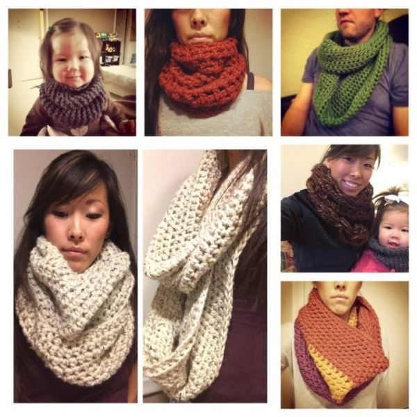 "A VERY in depth ""How to crochet a chunky Infinity Scarf and/or Cowl"" by serena"