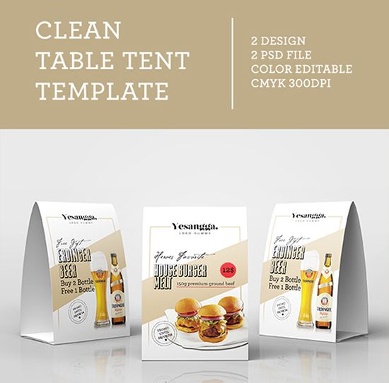 Table Tent Mockup template Pinterest Table tents, Mockup and