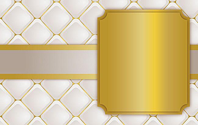 White Gold Diamond Square Soft Pack Border Background in