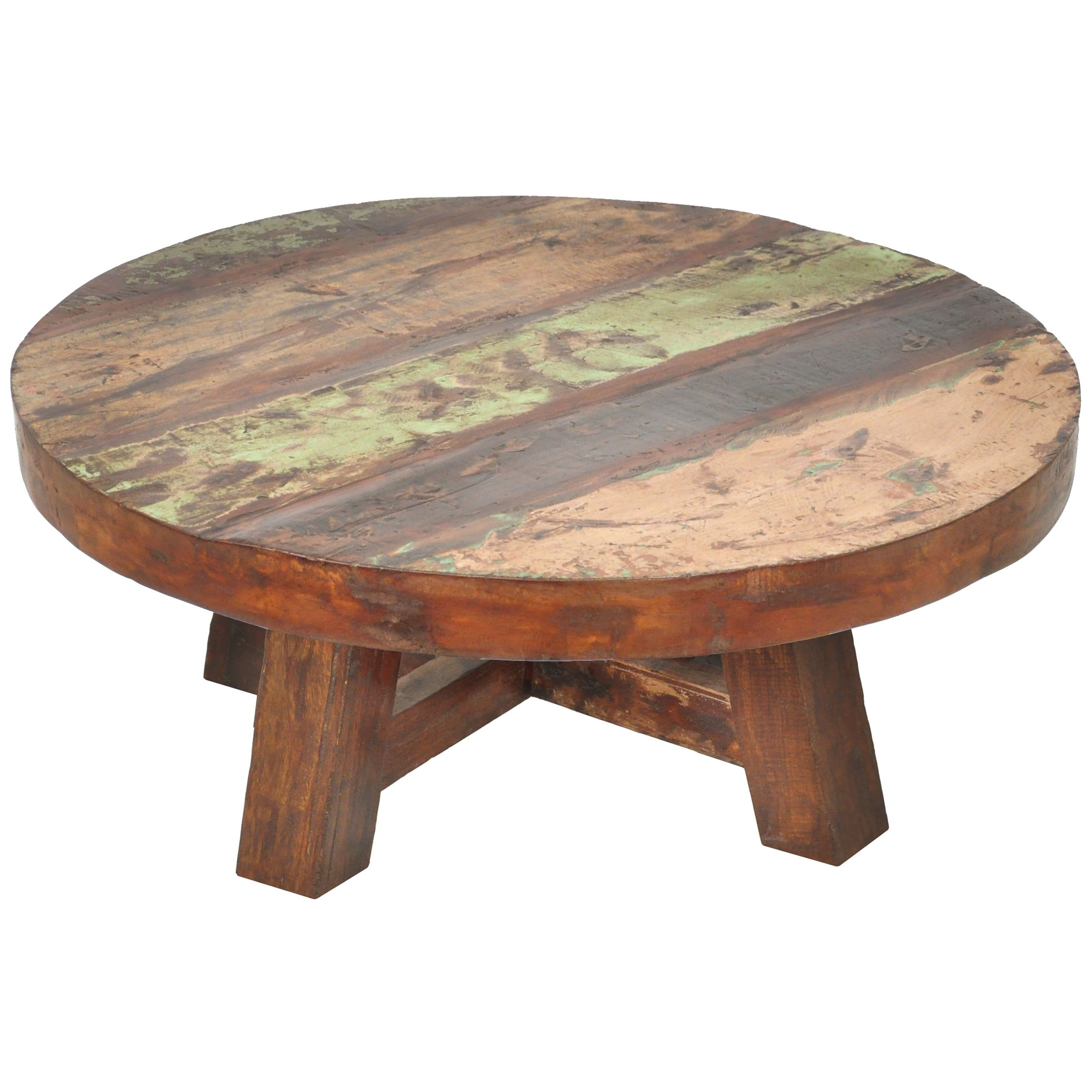 Small Round Cherry Wood Coffee Table